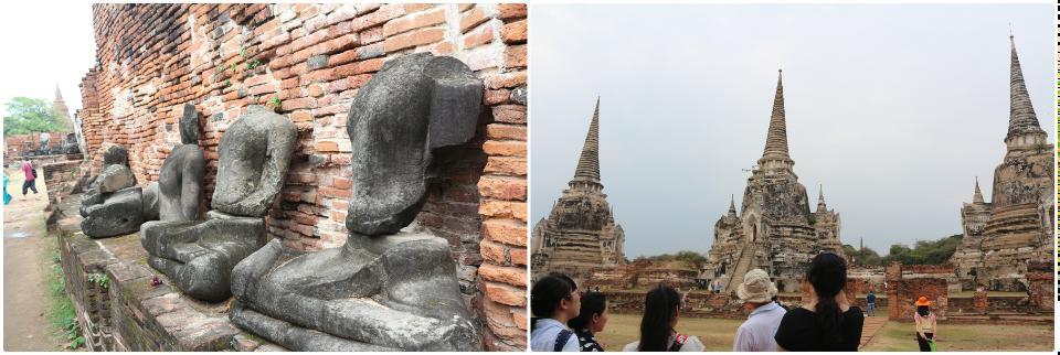 被砍头的佛像, 和三塔遗迹