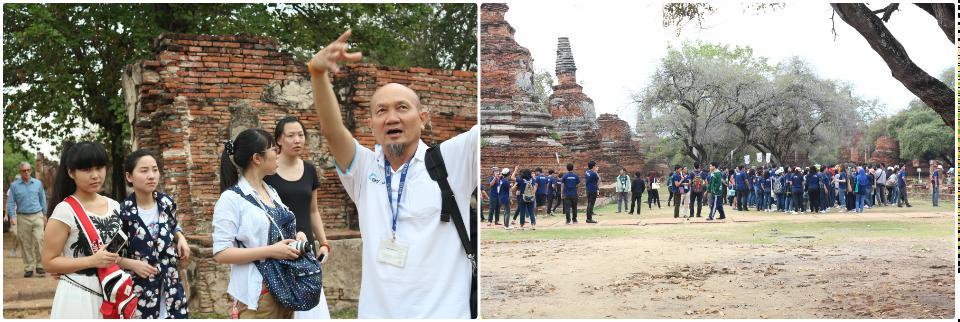 长的很像菩提老祖的导游给我们讲解, 另一群参加活动的大学生
