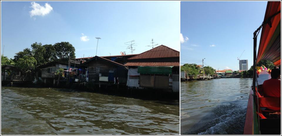 昭拍耶河支流随拍民居, 以及泰国奇怪的塔吊