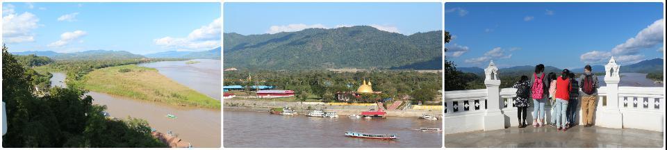 金三角两河交汇分三国, 对面老挝的中国赌场, 趴着不知道看什么的我们一行