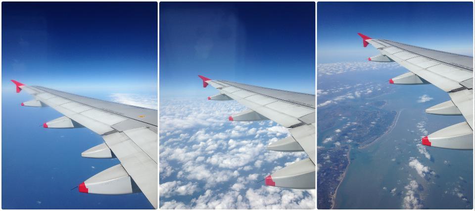 清迈飞香港时路上所得, 海天一色, 蓝天白云, 雷州半岛东海岸