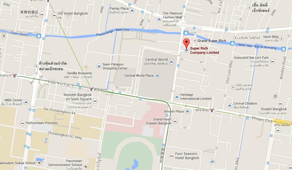 曼谷商业区 Super Rich 位置图