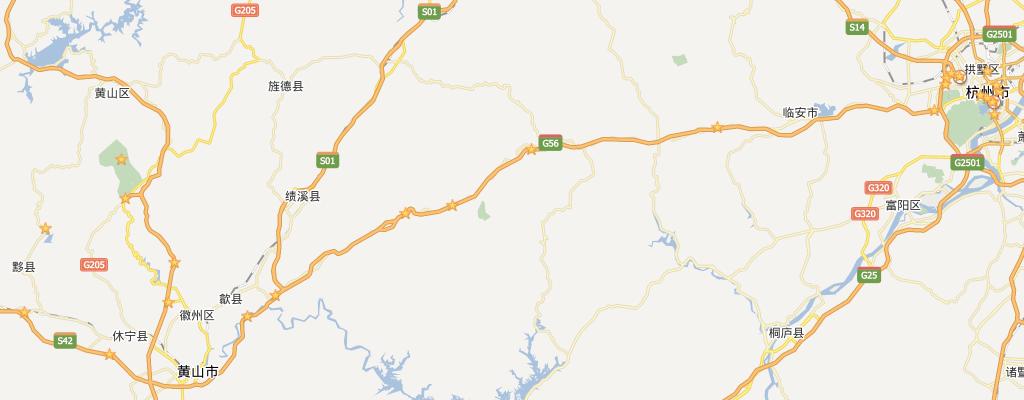 杭州-歙县-黄山-宏村-黟县-杭州 自驾关键点图