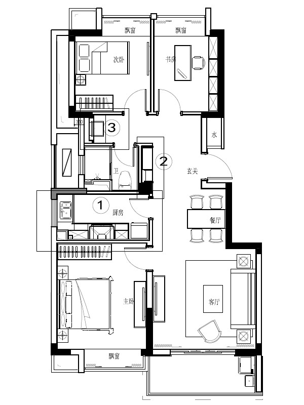 开发商给的房屋平面示意图