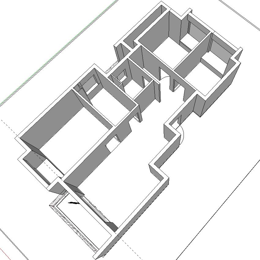 空房 SketchUp 3D 图