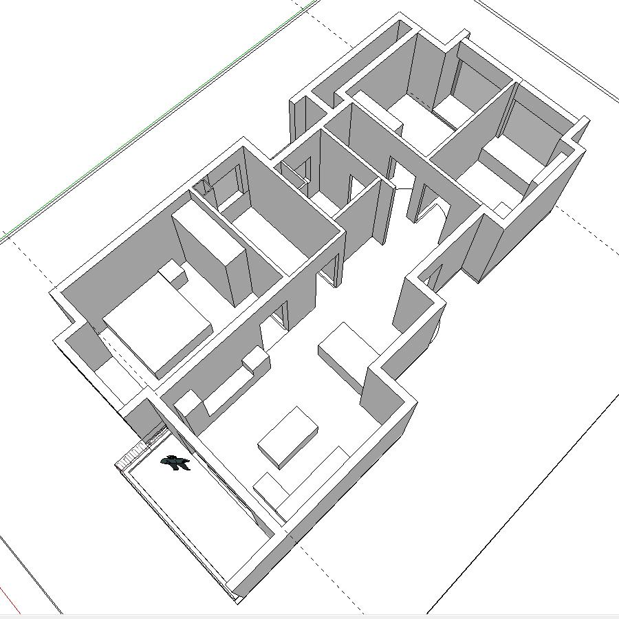 SketchUp 3D 规划图 1