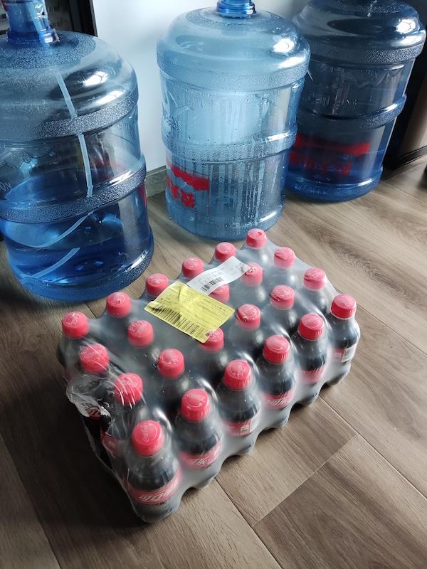 24 瓶 300ml 的可乐,共 7.2kg